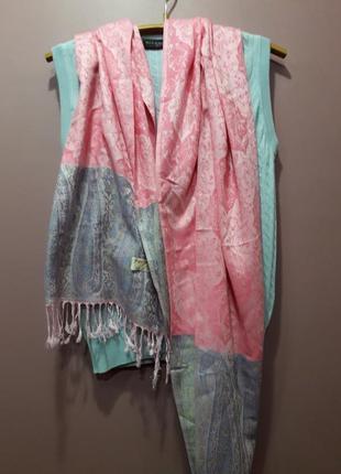 Кашемировый шарф палантин