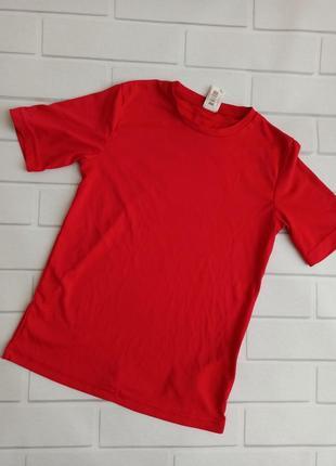 Футболка спортивная oxylane red, детская футболка красная