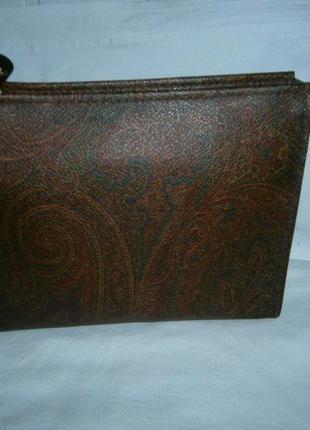 Auth. etro milano leather pvc italy clutch оригинал из сша