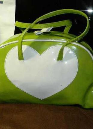 Benetton 100% оригинал милая яркая сумка + пыльник (детская)
