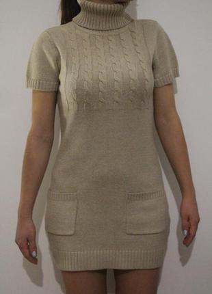 Тёплое платье-туника