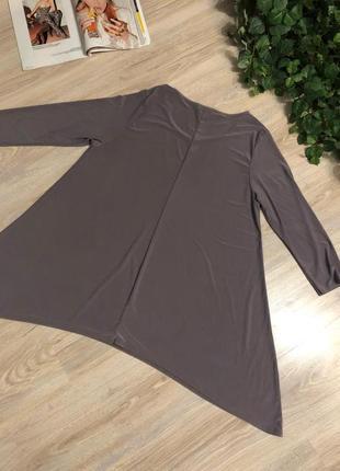 Крутая дымчато-сиреневая блузка рубашка кофточка