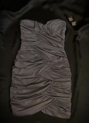 Платье с эффектом металлик от rare