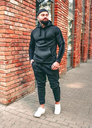 Мужской зимний спортивный костюм asos теплый! худи с капюшоном и штаны на флисе!
