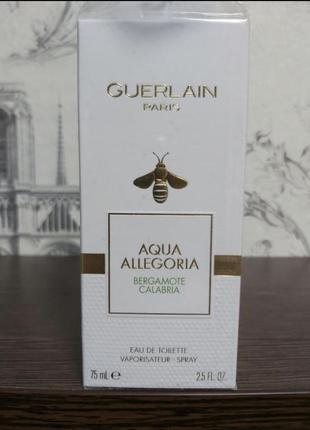 Guerlain aqua allegoria bergamote calabria туалетная вода