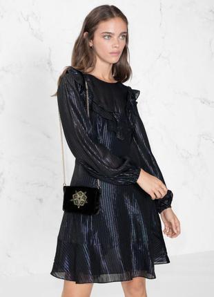 Черное платье с металлизированной нитью &other stories