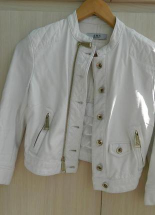 Куртка короткая из кожзама