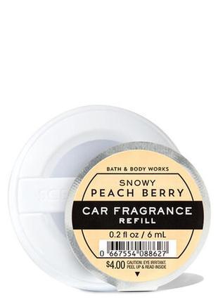 Ароматизатор для машины авто рефил bath and body works snowy peach berry