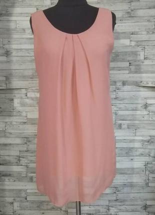 Пудровое шифоновое платье