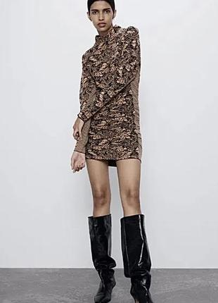 Жаккардовое платье от zara2 фото
