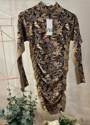 Жаккардовое платье от zara