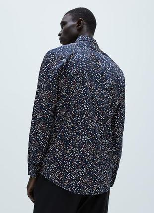 Рубашка с цветочным принтом zara floral print shirt