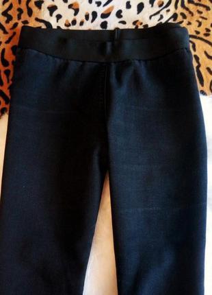 Черные скинни джеггинсы на резинке высокая талия американки узкачи джинсы