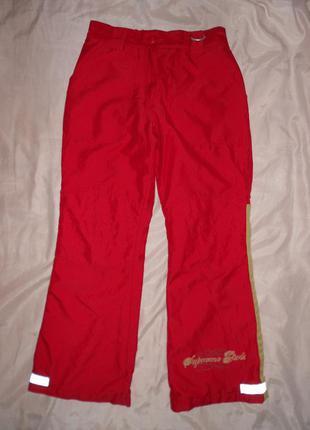 Красные утепленные брюки x-mail германия, на девочку р.134-140 см