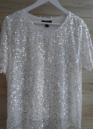 Блуза паетки new look