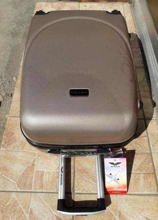 Доставка! киев! чемодан средний пластиковый 100% оригинал польша валіза середня
