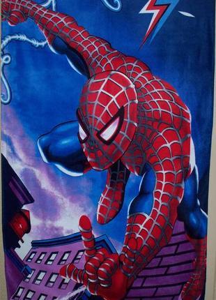 Полотенце пляжное для детей 70 х 140 см. человек паук