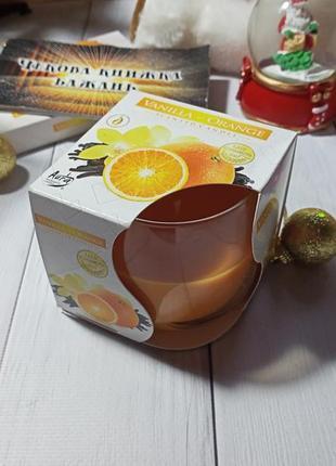 Свеча ароматическая ваниль апельсин