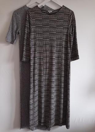 Трикотажное осеннее платье