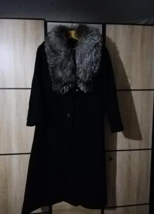 Пальто с чернобуркой зима