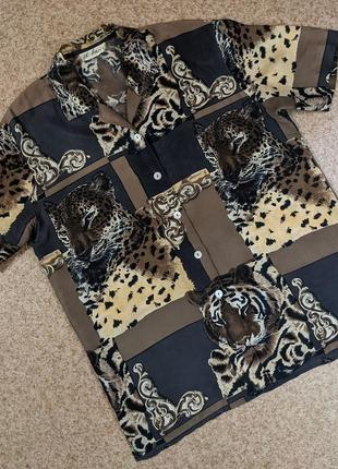 Винтажная шелковая гавайская рубашка