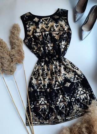 Платье в паетку