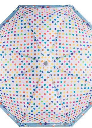 Зонт женский складной (24,5 см)artrain горошки