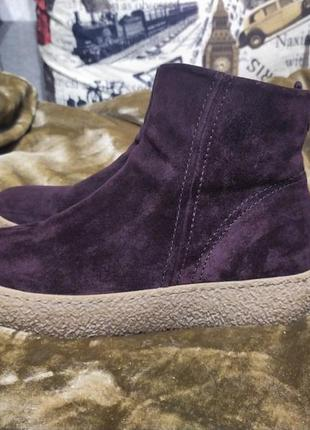 Замшевые ботинки  gabor
