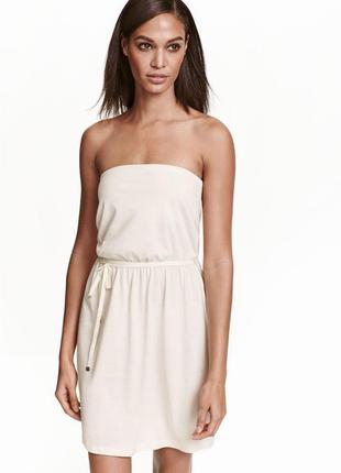 Платье без бретелей от h&m