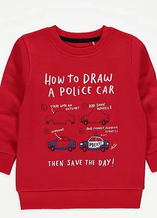 Яркий свитерок с полицейской машиной