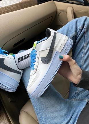 Кроссовки nike air force shadow white/blue код:n0053