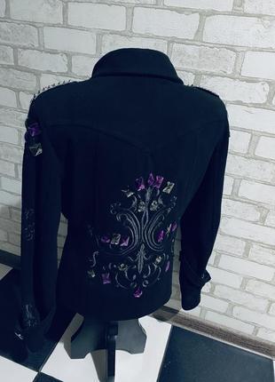 Модное винтажное шикарное брендовое полупальто  cinema donna  размер 46/48