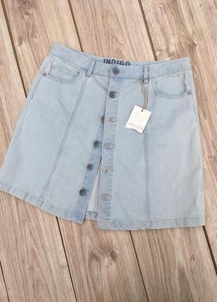 Стильная актуальная джинсовая юбка marks & spencer zara asos h&m