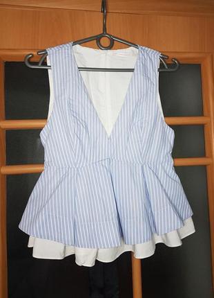 Блуза зара, блузка, блуза в полоску, блузка