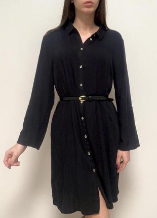 Чёрное платье рубашка