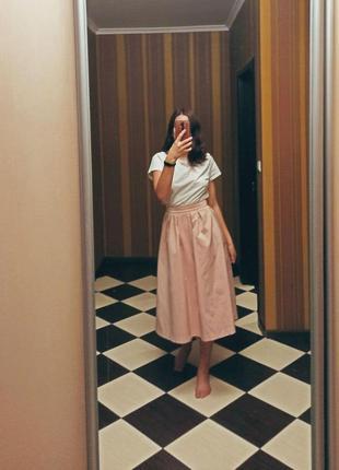 Невероятная розовая юбка миди befree