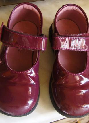 Туфли темно-фиолетовые лаковые juke box размер 24 стелька 15 см.