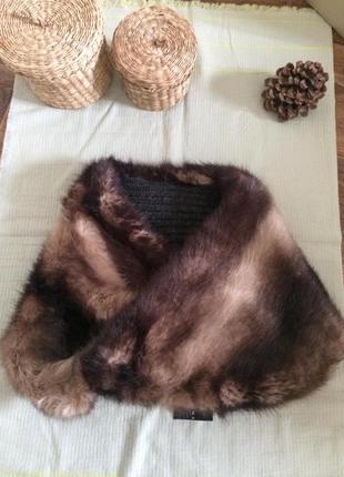 Хомут, шарф из искусственного меха,zara