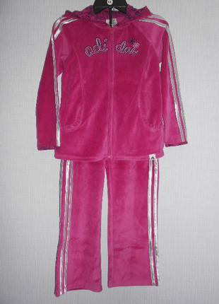 Классный спортивный велюровый костюм adidas  оригинал