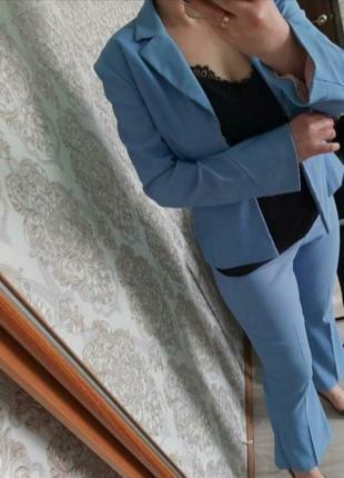 Стильный брючный костюм пиджак жакет блейзер и брюки