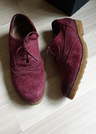 Мужские кожаные оксфорды броги туфли 43
