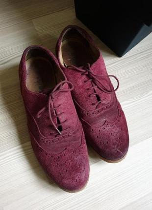 Мужские кожаные оксфорды броги туфли 436 фото