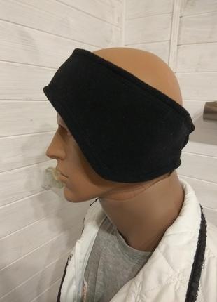 Флисовая повязка на голову beechfield большой размер