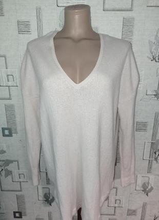Кашемировый свитер пуловер white label