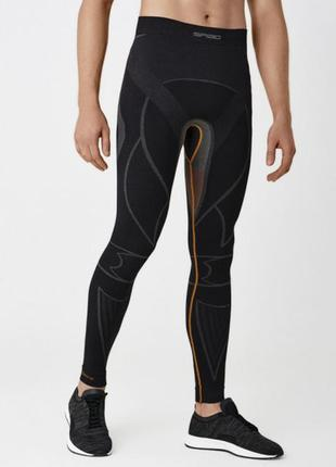 Термобелье штаны мужские spaio extreme w02  черный/серый