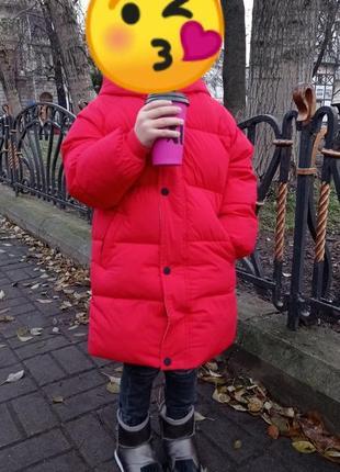 Стильний зимовий плащик куртка