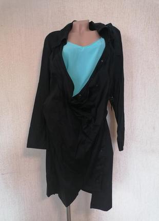Стильная дизайнерская длинная рубашка 1060