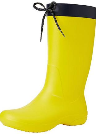 Резиновые сапоги crocs freesail rain boot раз. w5 - 22см