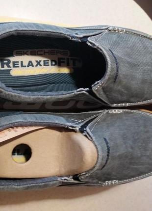 Мужские слипоны-туфли  skechers expected - avillo blue ( 43,44,45,46) оригинал2 фото