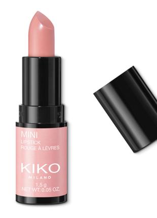 Кремовая матовая мини помада kiko mini lipstick тон 01